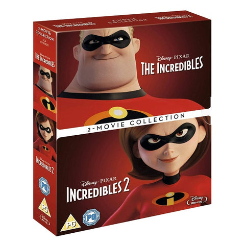 Disney Pixar The Incredibles and Incredibles 2 [Blu-Ray 2-Movie Collection]