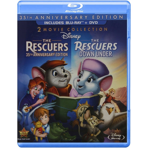 Disney's The Rescuers & The Rescuers Down Under - 35th Anniversary Edition [Blu-Ray 2-Movie Collection]