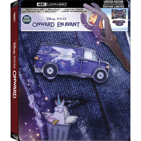Disney Pixar's Onward - 4K Limited Edition Collectible SteelBook - Best Buy Exclusive [Blu-ray + 4K UHD + Digital HD]