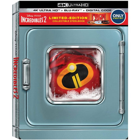 Disney Pixar's Incredibles 2 - 4K Limited Edition Collectible SteelBook - Best Buy Exclusive [Blu-ray + 4K UHD + Digital]