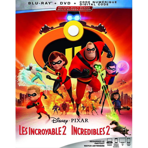 Disney Pixar's Incredibles 2 [Blu-ray + DVD + Digital]
