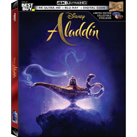 Disney's Aladdin - Live Action Limited Edition Collectible SteelBook [Blu-Ray + 4K UHD + Digital]