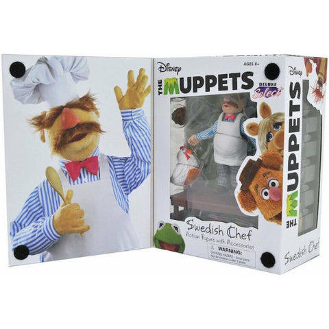 Disney's The Muppets Swedish Chef Action Figure w/ Accessories - Deluxe Select [Toys, Ages 3+]