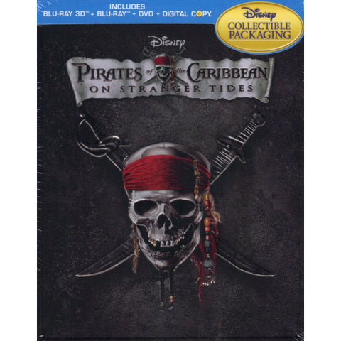 Disney's Pirates of the Caribbean: On Stranger Tides - Limited Edition SteelBook [3D + 2D Blu-ray + DVD + Digital]