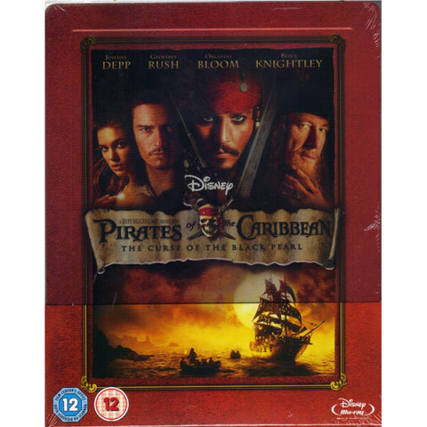 Disney's Pirates of the Caribbean: The Curse of the Black Pearl - Limited Edition SteelBook [Blu-ray]