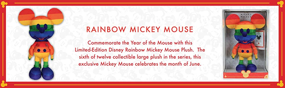 Disney Year of The Mouse Collector Plush - Rainbow Mickey Mouse [Toy, Ages 3+]