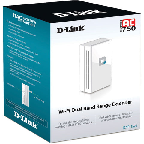 D-Link AC750 Wireless Dual Band Range Extender - DAP-1520 [Electronics]