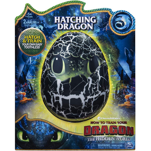 DreamWorks How To Train Your Dragon: The Hidden World - Hatching Toothless Interactive Baby Dragon [Toys, Ages 5+]