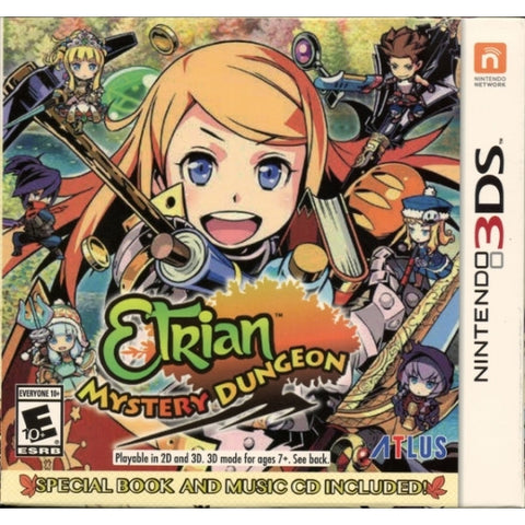 Etrian Mystery Dungeon w/ Special Book and Music CD First Launch Edition [Nintendo 3DS]