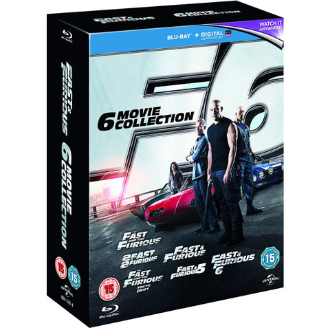 Fast & Furious: 6 Movie Collection [Blu-Ray Box Set]