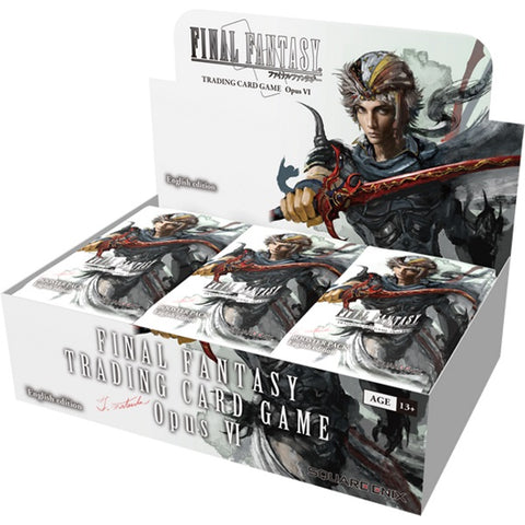 Final Fantasy TCG: Opus VI Collection Factory Sealed Booster Box - 36 Packs [Card Game, Ages 13+]