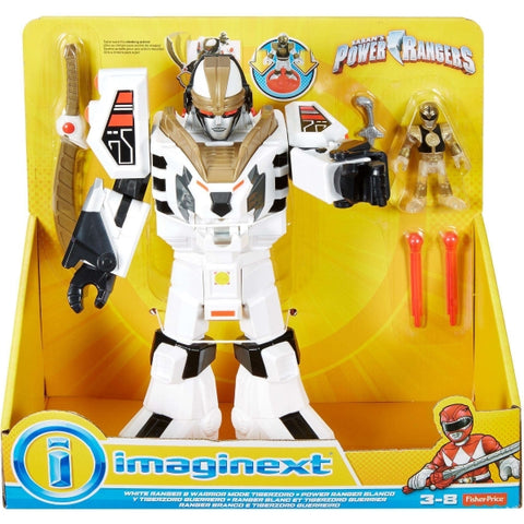 Power Rangers White Ranger & Warrior Mode Tigerzord [Toys, Ages 3+]