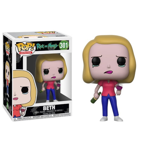 Funko POP! Animation - Rick and Morty: Beth Vinyl Figure [Toys, Ages 17+, #301]