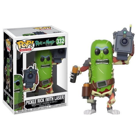 Funko POP! Animation - Rick and Morty: Pickle Rick with Laser Vinyl Figure [Toys, Ages 17+, #332]
