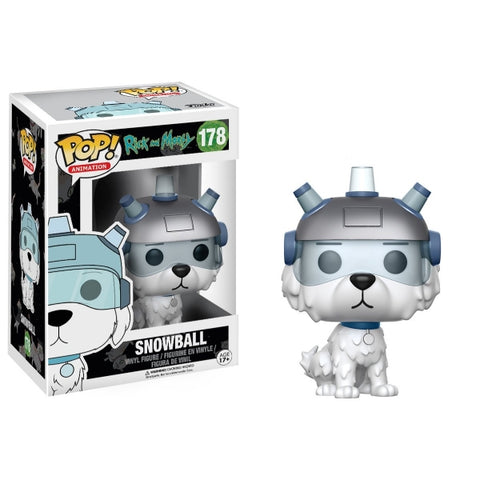 Funko POP! Animation - Rick and Morty: Snowball Vinyl Figure [Toys, Ages 17+, #178]