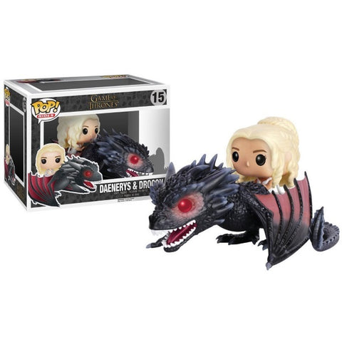 Funko POP! - Game of Thrones: Daenerys & Drogon Vinyl Figure [Toys, Ages 17+, #15]