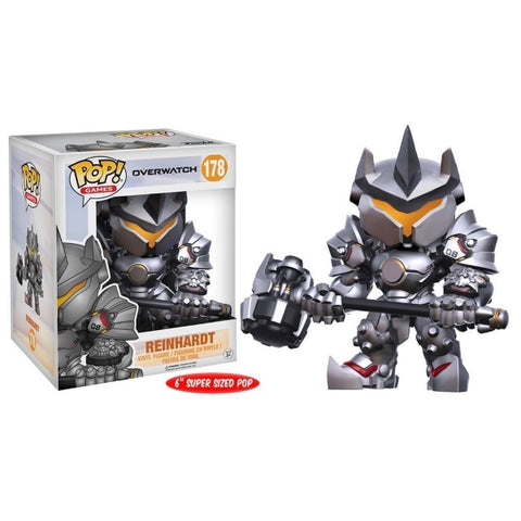 Funko POP! Games - Overwatch: Reinhardt Super Sized Vinyl Figure [Toys, Ages 3+, #178]