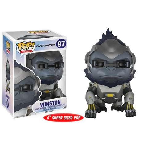 Funko POP! Games - Overwatch: Winston Super Sized Vinyl Figure [Toys, Ages 17+, #97]
