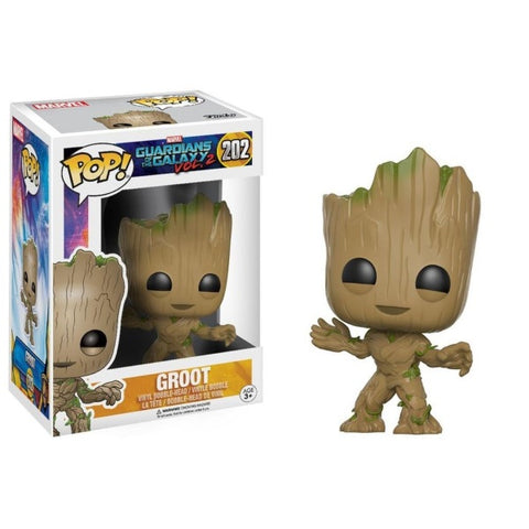 Funko POP! Marvel: Guardians of the Galaxy Vol. 2- Toddler Groot [Toys, Ages 3+, #202]