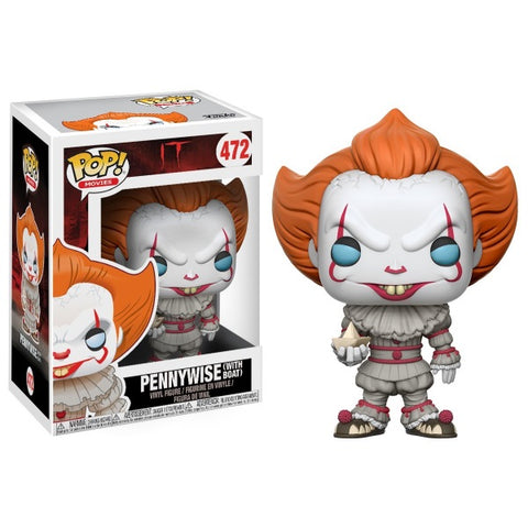 Funko POP! Movies: It - Pennywise with Boat [Toys, Ages 3+, #472]