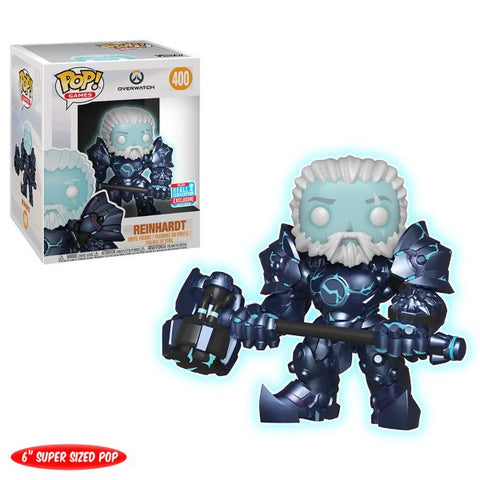 Funko POP! Games - Overwatch: Reinhardt Super Sized Vinyl Figure - NYCC Exclusive [Toys, Ages 3+, #400]