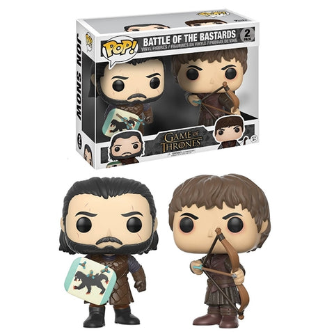 Funko POP! - Game of Thrones: Battle of the Bastards - Jon Snow & Ramsay Bolton [Toys, Ages 3+, 2-Pack]