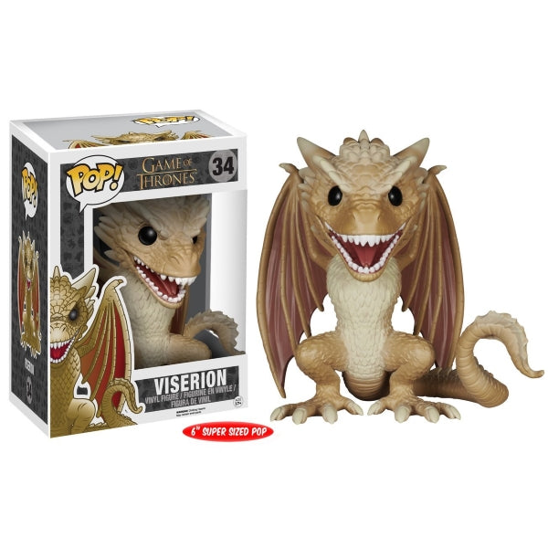 Funko POP! - Game of Thrones: Viserion Super Sized Vinyl Figure [Toys, Ages 17+, #34]