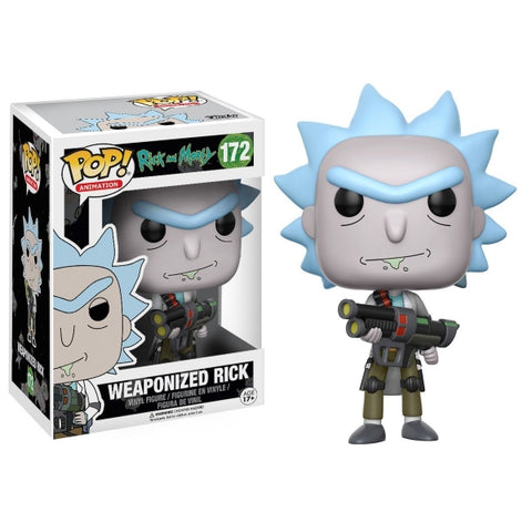 Funko POP! Animation - Rick and Morty: Weaponized Rick Vinyl Figure [Toys, Ages 17+, #172]