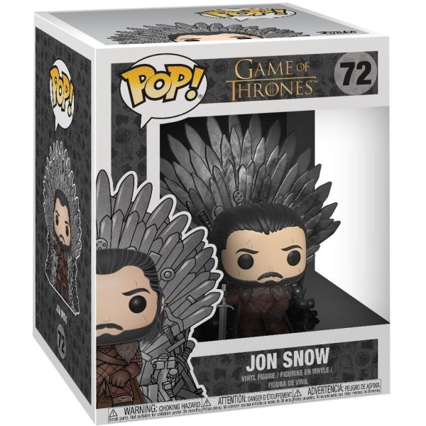 Funko POP! Deluxe: Game of Thrones - Jon Snow on the Iron Throne Vinyl Figure [Toys, Ages 3+, #72]