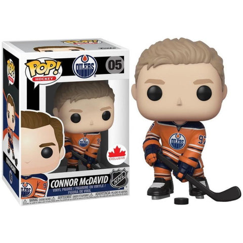 Funko POP! Hockey: Edmonton Oilers Connor McDavid #97 Orange Jersey Vinyl Figure [Toys, Ages 3+, #05]