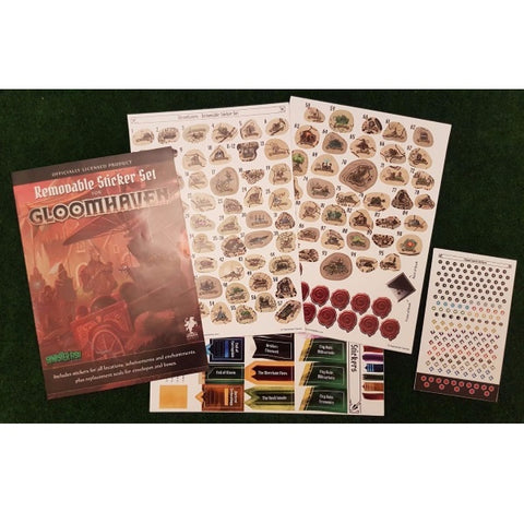 Gloomhaven Removable Sticker Set [Board Game Accessory]
