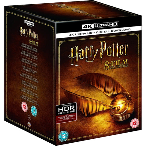 Harry Potter 8-Film Complete Collection 4K [Blu-Ray Box Set + 4k UHD + Digital]