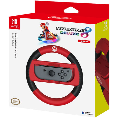Hori Mario Kart 8 Deluxe Racing Wheel - Mario [Nintendo Switch Accessory]