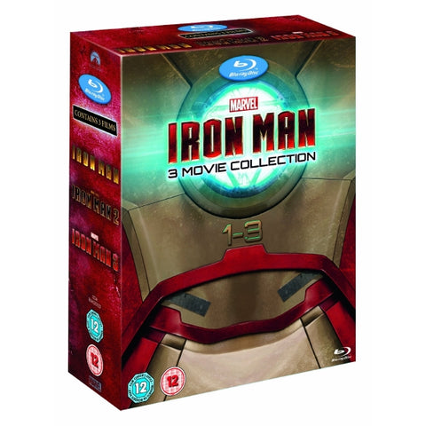 Marvel's Iron Man 1 + 2 + 3 [Blu-Ray 3-Movie Collection]