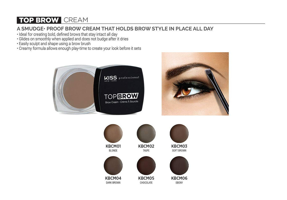 Kiss New York Professional Top Brow Cream - Blonde [Beauty]