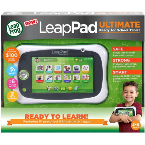 LeapFrog LeapPad - Ultimate Get Ready for School Tablet - Green [Toys, Ages 3-6]