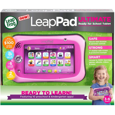 LeapFrog LeapPad - Ultimate Get Ready for School Tablet - Pink [Toys, Ages 3-6]