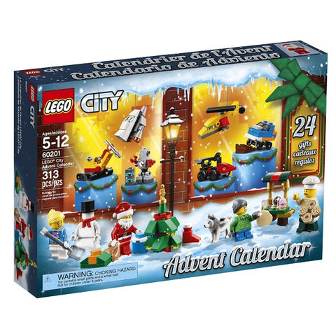 LEGO City: Advent Calendar (2018 Edition) - 313 Piece Building Kit [LEGO, #60201, Ages 5-12]