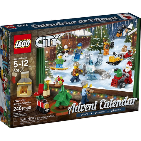 LEGO City 248 Piece Advent Calendar Building Kit - 2017 Edition [LEGO, #60155, Ages 5-12]