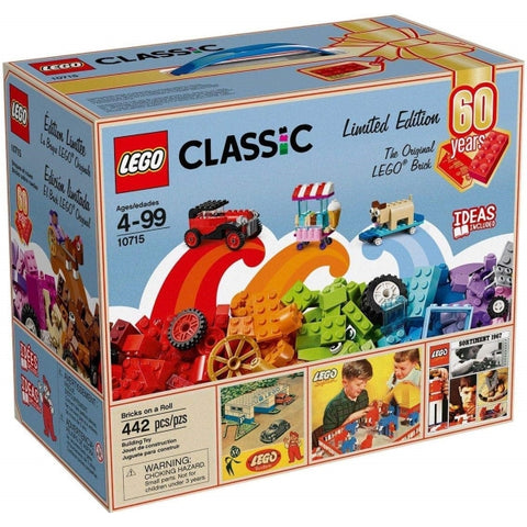 LEGO Classic: Bricks on a Roll - 442 Piece Limited Edition Building Kit [LEGO, #10715, Ages 4-99]