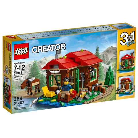 LEGO Creator: Lakeside Lodge - 368 Piece 3-in-1 Building Kit [LEGO, #31048, Ages 7-12]