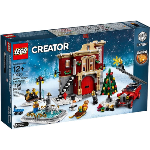 LEGO Creator: Winter Village Fire Station - 1166 Piece Building Kit [LEGO, #10263, Ages 12+]