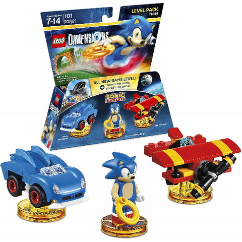 LEGO Dimensions: Sonic the Hedgehog Level Pack - 101 Piece Building Set [LEGO, #71244, Ages 7-14]