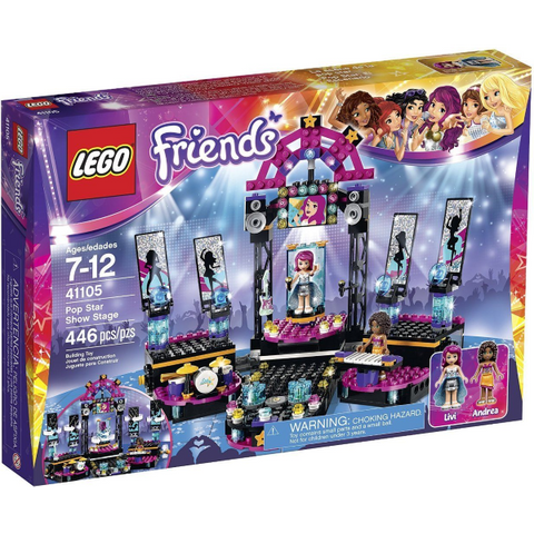 LEGO Friends Pop Star Show Stage 446 Piece Building Kit [LEGO, #41105, Ages 7-12]