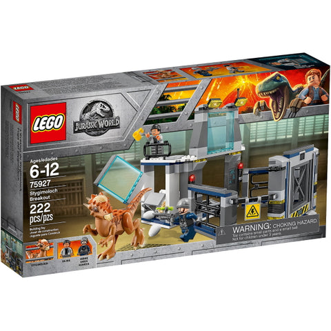 LEGO Jurassic World: Stygimoloch Breakout - 222 Piece Building Kit [LEGO, #75927, Ages 6-12]