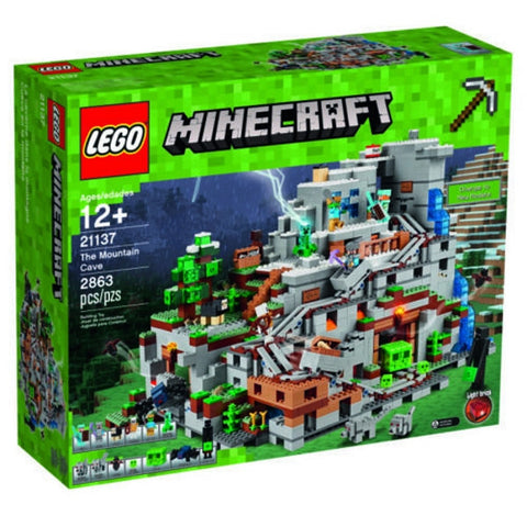 LEGO Minecraft The Mountain Cave 2863 Piece Building Kit [LEGO, #21137, Ages 12+]