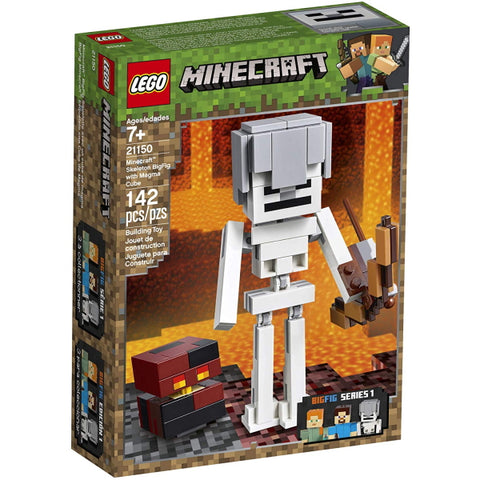 LEGO Minecraft: Skeleton BigFig with Magma Cube - 142 Piece Building Kit [LEGO, #21150, Ages 7+]