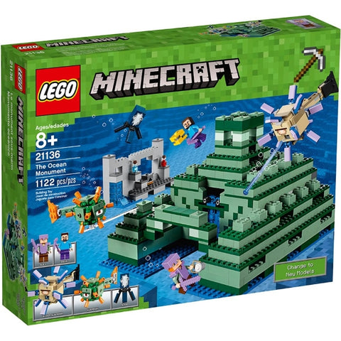 LEGO Minecraft: The Ocean Monument - 1122 Piece Building Set [LEGO, #21136, Ages 8+]