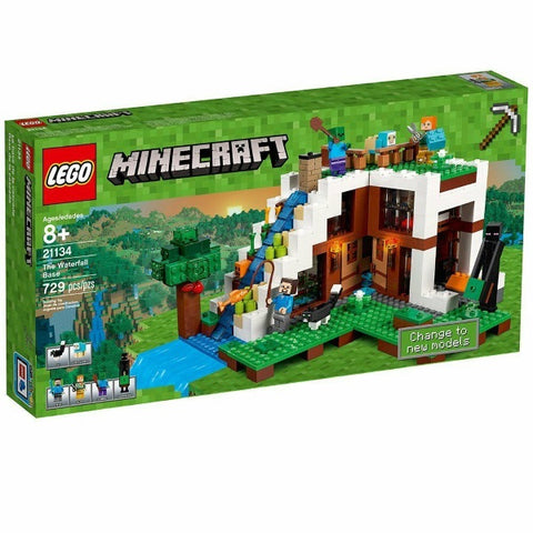LEGO Minecraft: The Waterfall Base - 729 Piece Building Kit [LEGO, #21134, Ages 8+]