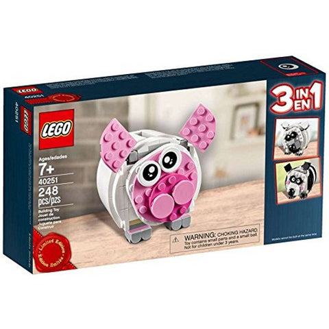 LEGO Mini Piggy Bank Limited Edition 3-in-1 248 Piece Building Kit [LEGO, #40251, Ages 7+]